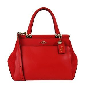 COACH X SELENA GOMEZ Red purse handbag grace